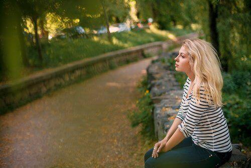 Kobieta w parku
