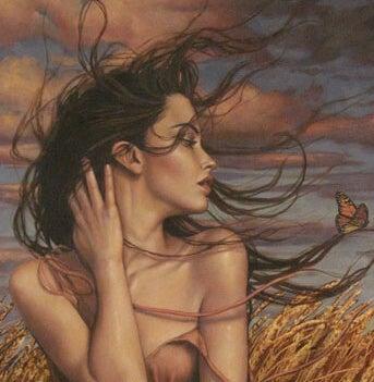 Kobieta na wietrze