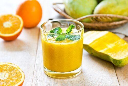 Koktajl z melona i pomarańczy