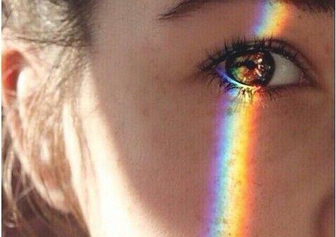 Tęcza w oku
