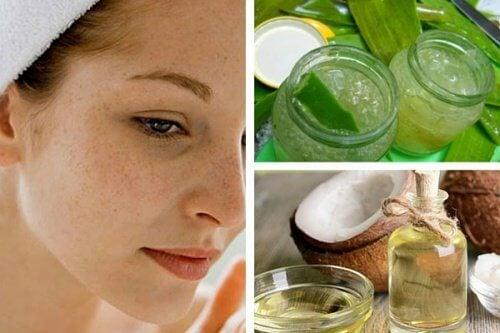 Twarz kobiety - naturalne kosmetyki