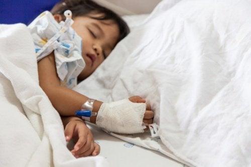 Dwulatek w szpitalu