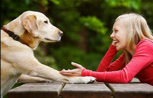 dziewczyna i pies