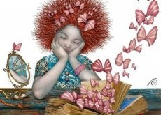 Dziewczynka i motyle