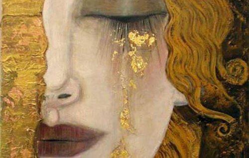 Ilustracja kobieta złoto