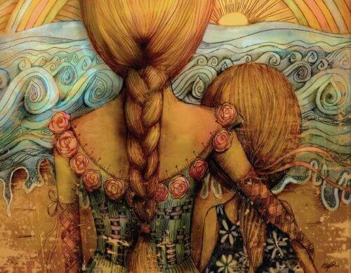 Kobieta i dziewczynka
