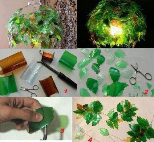 Lampa z plastikowych butelek
