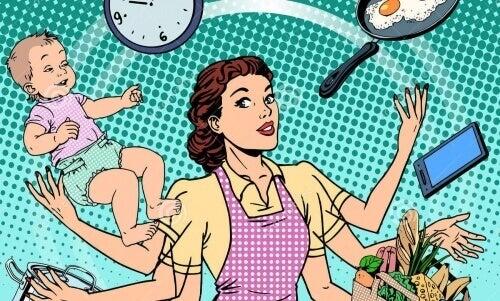 Dyskryminacja w rodzinie: kobieta pracuje o 7h więcej