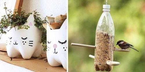 Plastikowe butelki - 13 kreatywnych pomysłów