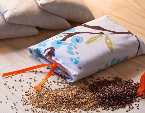 Poduszka termiczna z nasionami