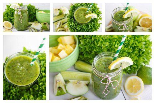 Relaksujący koktajl z ananasa, cytryny mięty i jabłka
