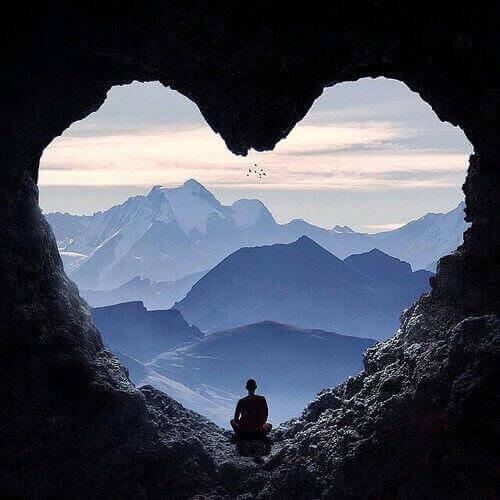 Serce w górach