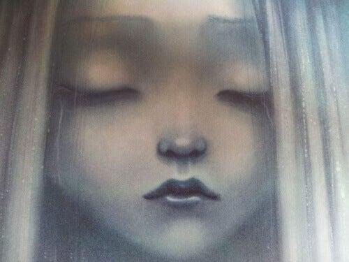 Smutna dziewczynka obrazek