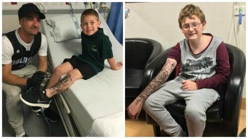 Zmywalne tatuaże dodają sił chorym dzieciom!