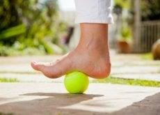 Ćwiczenia z piłką tenisową