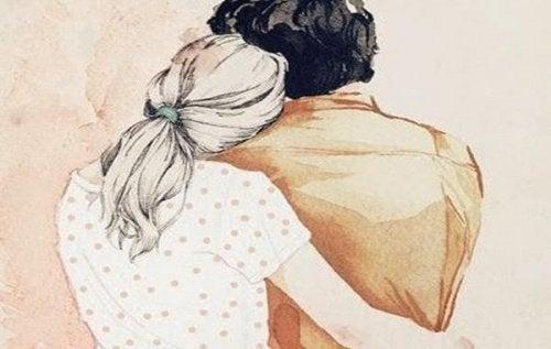Para przytulać się