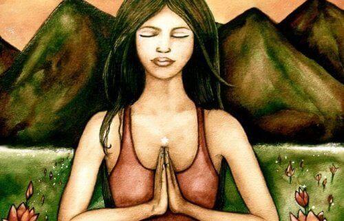 kobieta medytująca