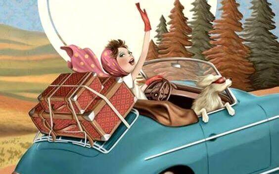 niezależna kobieta w drodze