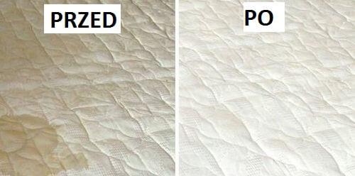 Materac przed i po