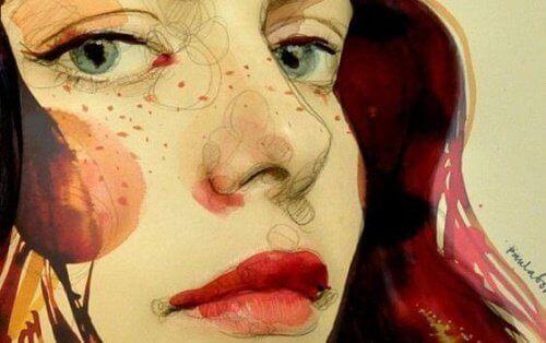 Namalowana twarz kobiety