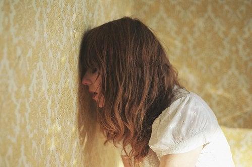 Kobieta płacz smutek