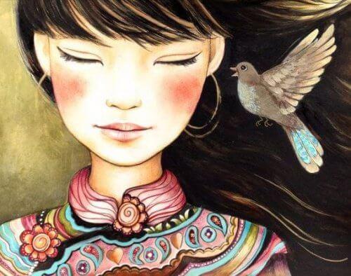 Dziewczyna z gołębiem