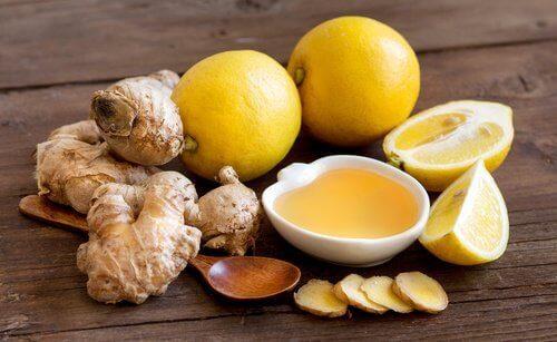Imbir cytryna i miód