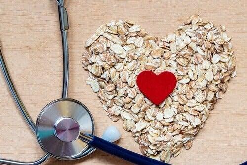 Owsianka w kształcie serca - nierozpuszczalny błonnik