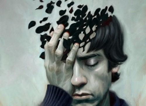 Mężczyzna z bolącą głową