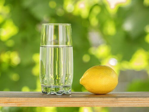 Cytryna i szklanka wody