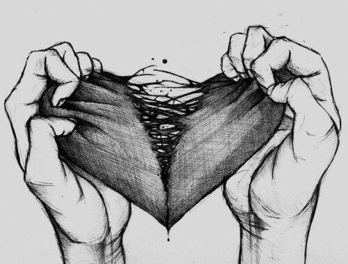 Dłonie rozdzierające serce
