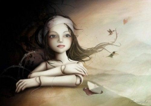 Samotna, smutna dziewczyna