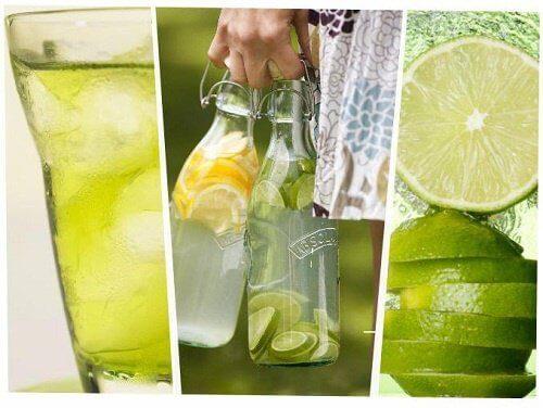 Woda z cytryną i limonką