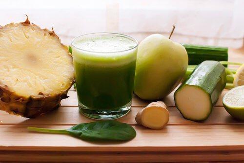 Zielony napój na układ trawienny