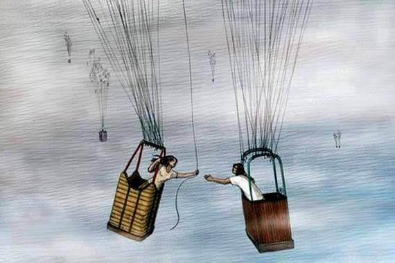 balony z ludźmi - uprzejmość w każdej sytuacji