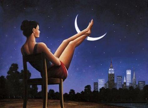 nogi na księżycu
