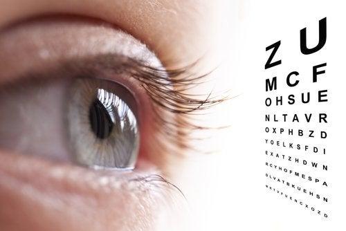 oko i tablica do badań
