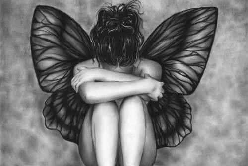 załamana kobieta, depresja