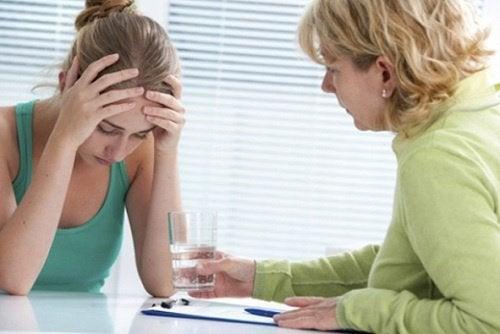 kobieta u psychologa