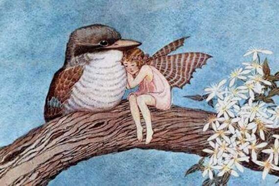 wróżka z ptakiem - uprzejmość w stosunku do każdego