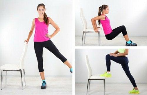 Ćwiczenia z krzesłem na piękne ciało