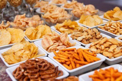 różne rodzaje chipsów