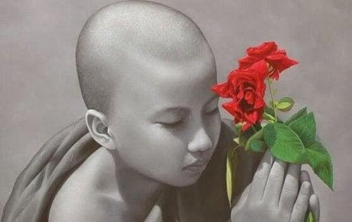 Dziecko z kwiatem - medytacja