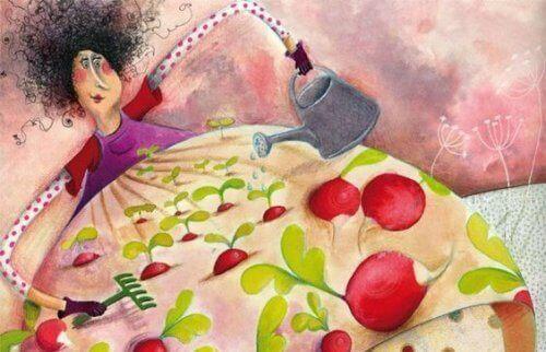 kobieta ogrodniczka