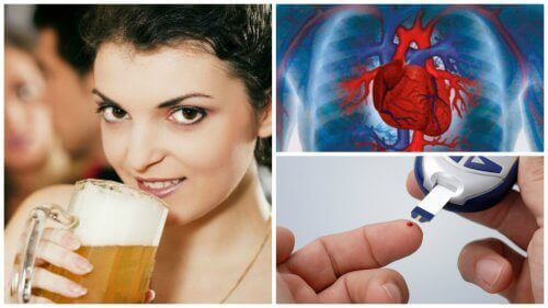 kobieta pijąca piwo