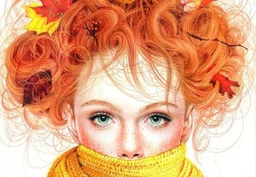 ruda dziewczyna