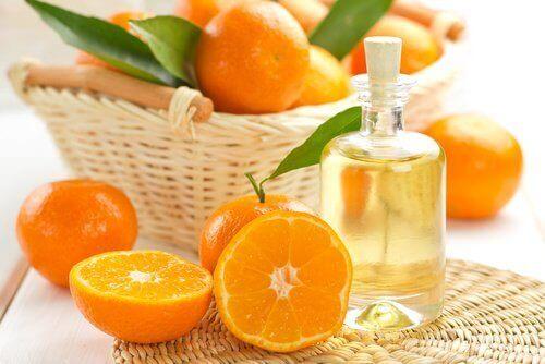 mandarynki oraz olej mandarynkowy
