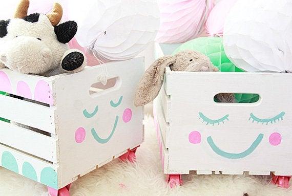 Pudełka z zabawkami