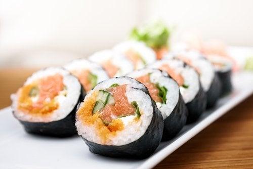 Sushi - produkty odmładzające