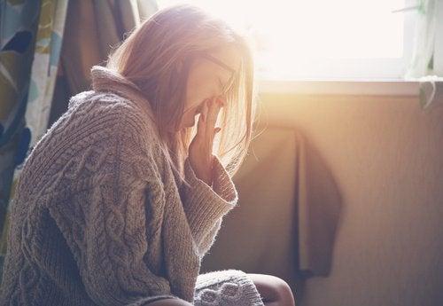 Zmęczona kobieta - depresja